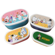 Moomin Valley Bento Lunch Box Seal Containers 4P Set Party Design