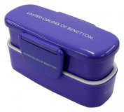 Pearl Benetton (BENETTON) slim two-stage lunch box (purple) M-2950