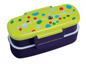 Pearl Benetton slim two-stage lunch box (dot navy) MA-5307