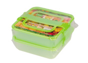 Pearl stack lunch box two-tiered green D-2762D-2762