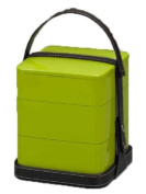 V handbag lunch box three-tiered green 72222-914