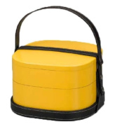 V handbag lunch box two-stage yellow 72227-914