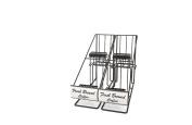 Grindmaster-Cecilware 70655 Aipot Rack with Inline 2 Pot Racks, Black