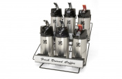 Grindmaster-Cecilware 70757 Air Pot Rack 6 Lever Top Pots, Steel Construction Black Powder Finish
