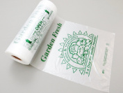 Plastic Bag-Printed HDPE 5-A-Day Produce Rolls 25cm x 38cm 11 mic - 3500 bags/case