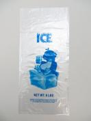 Plastic Bag-Clear Printed LDPE 3.6kg Ice Bags With Twist Ties 25cm x 60cm 1.35 mil - 1000 bags/case