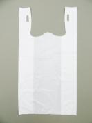 Plastic Bag-Standard White Plain T-Shirt Bag 29cm x 17cm x 21.13cm 15 mic - 1000 bags/case