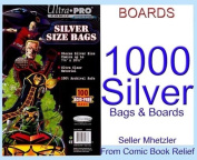 1000 Silver Ultra Pro Bags and Boards for Comic Books