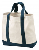 Port & Company - 2-Tone Shopping Tote Bag