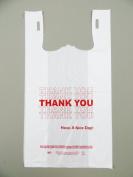 Plastic Bag- Standard 'Thank You' White T Shirt Bag 29cm x 17cm x 21.13cm 15 mic - 1000 bags/case