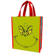 Vandor 17573 Dr. Seuss Grinch Naughty or Nice Recycled Shopper Tote, Small, Green/Red
