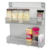 Spice Rack 2 Tier with Hooks