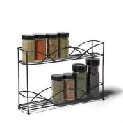 Spectrum Diversified Designs Countertop 2-tier Spice Rack, Black