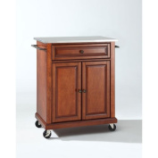Crosley Furniture Stainless Steel Top Portable Kitchen Cart/Island