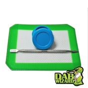 5x4 Silicone Mat & Blue Non-Stick Wax/Oil Jar Extract Pad w/ Pick