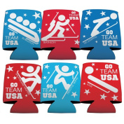 Winter Olympics - Team USA - Koozie Set of 6