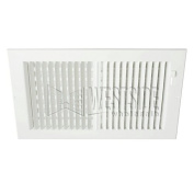 Hart Cooley 682 12x 8 W 682 TwoWay Steel Register for Sidewall/Ceiling White, 30cm W x 20cm H