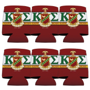 Kappa Sigma Koozie Set of 6 - KA and Shield Design