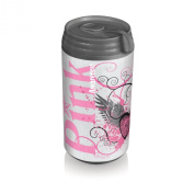 Picnic Time Insulated Micro Can Cooler, Pink Power