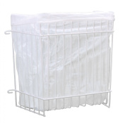 Panacea Grayline 40226 Garbage Bag Holder, Medium, White