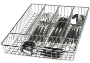 Danesco Chromed Wire Cutlery Tray with 5 Compartments, 36cm x 25cm