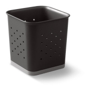 Made Smart Square Pencil Cup, Black & Grey