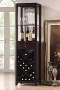 Acme 12244 Casey Wine Cabinet Set, Wenge Finish