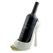 Sparkling Gold Toe Shoe Wine Bottle Holder