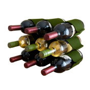 Felt Wine Rack - 9 Bottles - Olive
