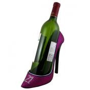 21st Birthday Glitter Wine Bottle Holder Shoe, Purple