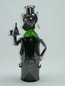 Fabulous Genunie Hand Made Caddy Dog Waiter Metal Wine Bottle Holder
