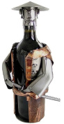 Made of Recycled Steel and Copper, The Samurai is a Cool Wine Caddy Statue or Dispaly 6046-LI