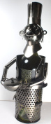 NEW! Chef Wine Bottle Holder - 100% Recycled Metal