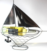NEW! Sailboat Wine Bottle Holder - 100% Recycled Metal