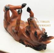 EQUINE BROWN STALLION HORSE WINE HOLDER KITCHEN DECORATION SCULPTURE STATUE