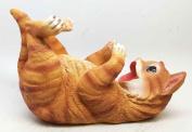 FELINE BROWN CAT CUTE KITCHEN OIL WINE BOTTLE HOLDER FIGURINE STATUE