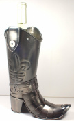 NEW! Cowboy Boot Wine Bottle Holder - 100% Recycled Metal