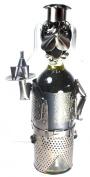 NEW! Dog Waiter Wine Bottle Holder - 100% Recycled Metal