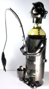 NEW! Fisherman Wine Bottle Holder - 100% Recycled Metal