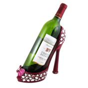 Sparkling Crystals Bow Wine Bottle Shoe Holder