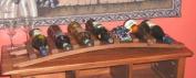 Trellis Oak Wine Rack, Holds up to 7 Bottles, 90cm L x 20cm D x 10cm H
