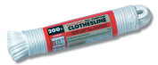 Lehigh SC8200HD 60m Polyester/Polypropylene All-Purpose Solid Braid Synthetic Clothesline, White