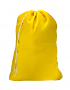 "Nylon Laundry Bag - Yellow, 30"" x 40"" - Sturdy rip and tear resistant nylon material with drawstring closure. Ideal machine washable nylon laundry bags for college, dorm and apartment dwellers."