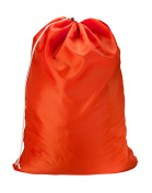 """Nylon Laundry Bag - Orange, 30"""" x 40"""" - Sturdy rip and tear resistant nylon material with drawstring closure. Ideal machine washable nylon laundry bags for college, dorm and apartment dwellers."""