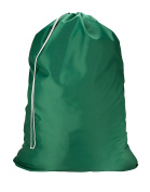 """Nylon Laundry Bag - Green, 30"""" x 40"""" - Sturdy rip and tear resistant nylon material with drawstring closure. Ideal machine washable nylon laundry bags for college, dorm and apartment dwellers."""