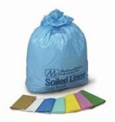 8677174 PT# 264 Bag Laundry Soiled Linen Wht/Blu 80cm x 100cm 75.7-113.6lLLDPE 250/Ca Made by Medical Action Industries