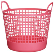 Like-it SCB-1 Plastic Round Laundry Basket, 37cm H by 41cm W by 37cm D