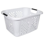 HMS 2253-0 Home Logic 1.5 Bushel White Laundry Basket