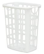 United Solutions Air-It-Out Plastic 2-Bushel Laundry Hamper, White