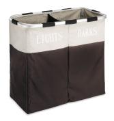 Whitmor 6205-2466-ESPR Easycare Double Hamper, Espresso